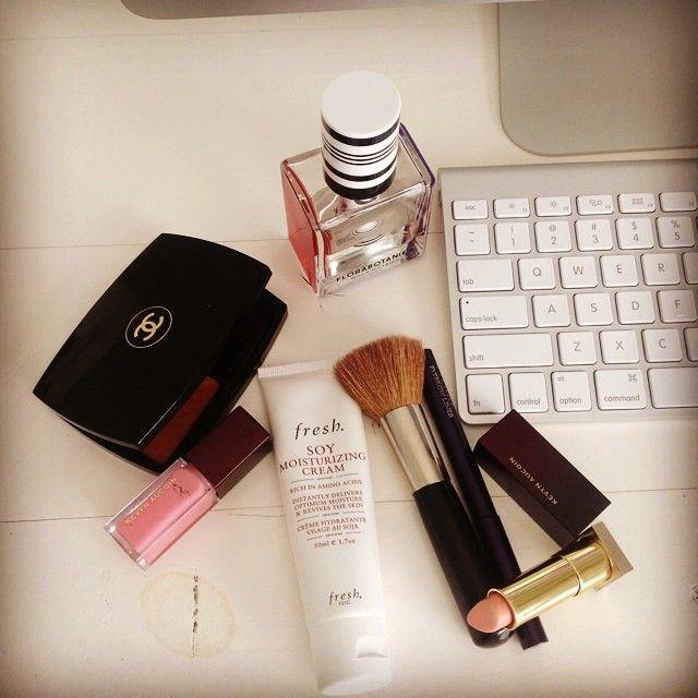 Beauty work essentials, Flora Botanica, Chanel Bronzer, Kevyn Aucoin