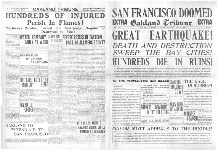 1906 San Francisco Earthquake - Effects on Oakland - Oakland - LocalWiki