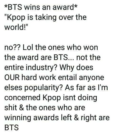 um no  BTS are a main factor in all of this but overall kpop has