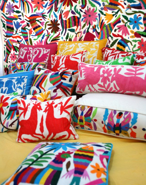Otomi Overload in the best way!   An article all about Beautiful Otomi Textiles   Paint + Pattern
