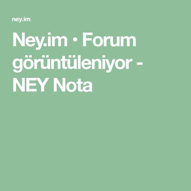 Ney Im Forum Goruntuleniyor Ney Nota