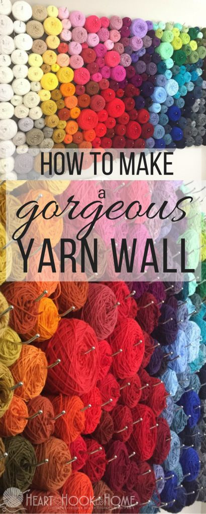 Inexpensive and Easy Yarn Organization Wall