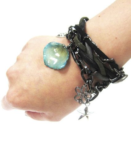 Rock Rose real flower petal Bracelet Sarah Blue real flower jewellery collections