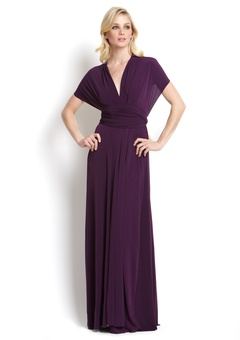 Eggplant Long Transformer Dress  ~my fav style to wear for   my friends wedding