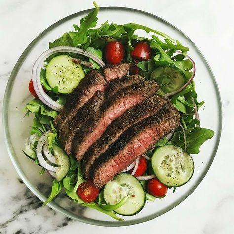 "Flatiron Steak Salad with Sriracha Dressing ""Rye and Butter"" Recipost Reciposter www.ryeandbutter.com"
