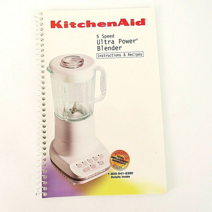 Kitchenaid instructions and recipes book 5 speed ultra