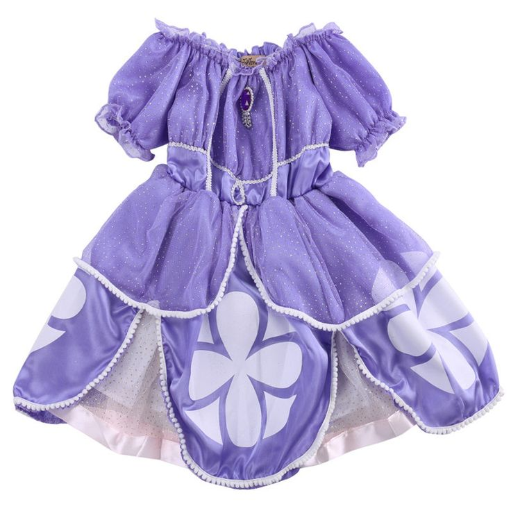 Girls Princess Sofia Costume Dress