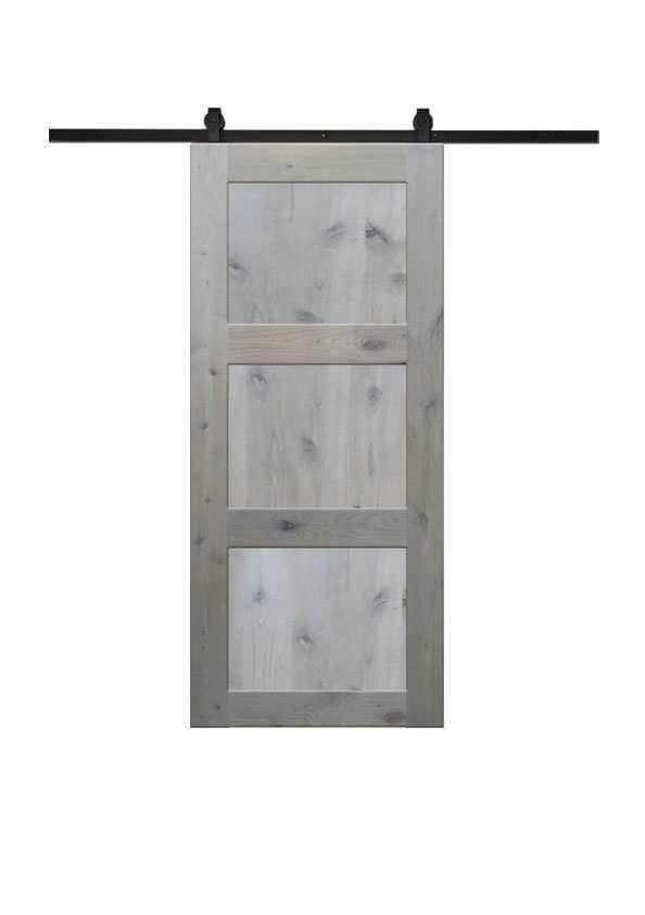 3 Panel Barn Door In Knotty Alder Barn Doors Sliding Barn Door Modern Door