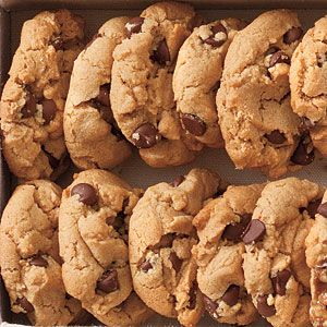Substituted with Sunbutter--Flourless+Peanut+Butter-Chocolate+Chip+Cookies+|+MyRecipes.com