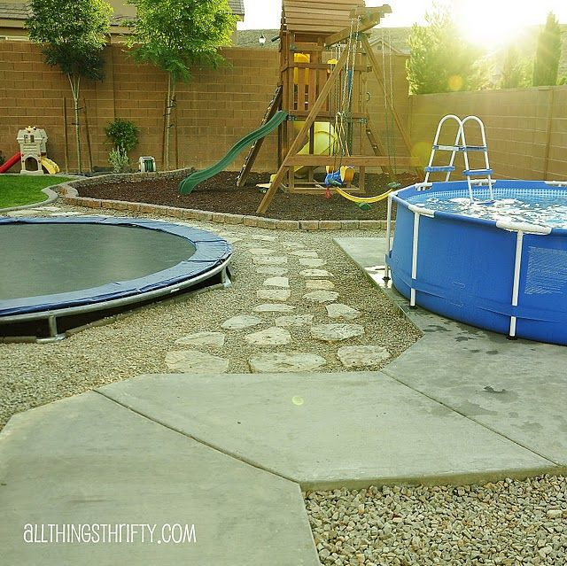 I love all the kid things in one place in the backyard.  We could pull this off.....and I'm sure the kids would create one hell of an obstacle course