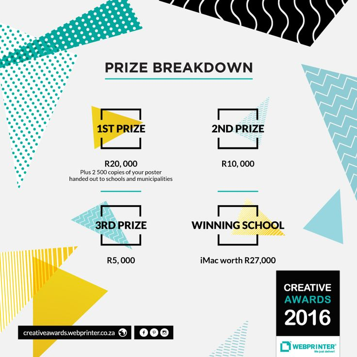 #Design Students: Check out these incredible prizes that are up for grabs! Enter now: http://creativeawards.webprinter.co.za/