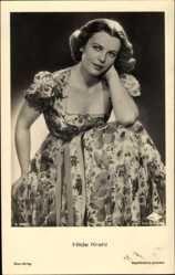 Ansichtskarte / Postkarte Schauspielerin Hilde Krahl, Ross A 3386 1, Portrait im geblümten Kleid