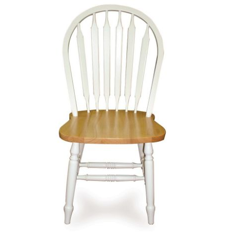 White/Natural Windsor Arrowback Chair, 38-Inch by International Concepts