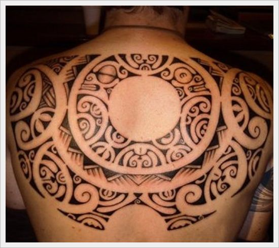 The Full Symbol Tribal Back Tattoo Designs And Meaning For Men On Back ~ http://tattooeve.com/back-tattoo-designs/ Tattoo Design
