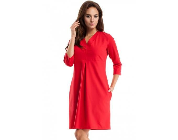 Clea Kleid mit V-Ausschnitt ,Farbe: Rot, Größe: 38 Jetzt bestellen unter: https://mode.ladendirekt.de/damen/bekleidung/kleider/sonstige-kleider/?uid=2aef325e-9b5c-5e02-9258-23b9d9892c71&utm_source=pinterest&utm_medium=pin&utm_campaign=boards #sonstigekleider #kleider #bekleidung