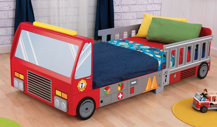 toddler bedToddlers Cot, Toddlers Boys, Trucks Toddlers, Boys Bedrooms, Toddlers Beds, Fire Trucks, Kids Room, Firetruck Toddlers, Toddler Bed