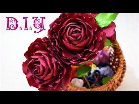 ❁ ❀ ✾ D.I.Y. Maroon Blossom Rose - Tutorial ✾ ❀ ❁