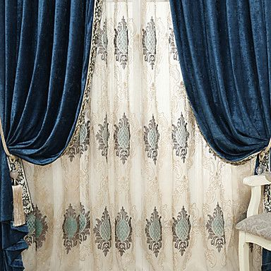 (Two Panels)Classic Embroider Sheer Curtain Curtain Drape 4567461 2016 – $61.99