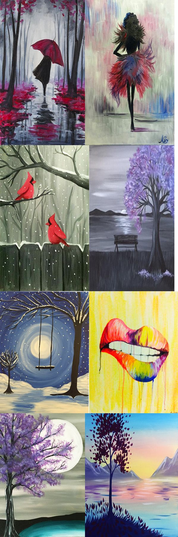 These are some of November's hottest Acrylic Paintings. Move over Paint Bar, Pinots Palette, and Muse Paint Bar. Paint Nite is #1 when it comes down to Paint and Sip!  These DIY Canvas Paintings are some of the most beautiful you will ever see. No Experience? No problem! Our  artist will give painting tutorials guiding you step by step to create some awesome canvas paintings. We provide all of the materials...we use only the best acrylic paint for our wine and canvas