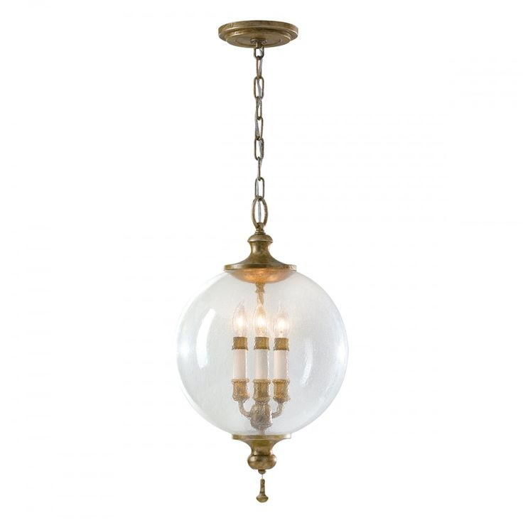 Modern art deco oxide globe chandelier finished in bright silver leaf fleck