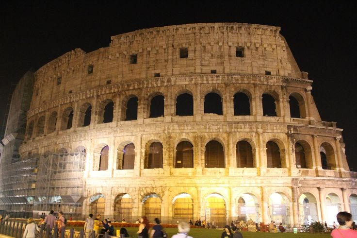 The evening view of the Colosseum is certainly charming, despite the brutal and violent history of the area…