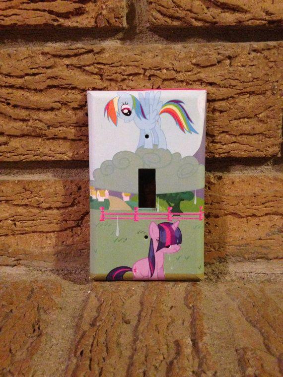 Rainbow Dash and Twilight Sparkle Light Switch Cover, My Little Pony Nursery, My Little Pony Decoration, My Little Pony Twilight Sparkle