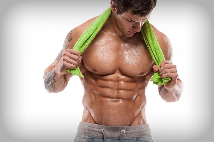 A man with an amazing v-cut abs!