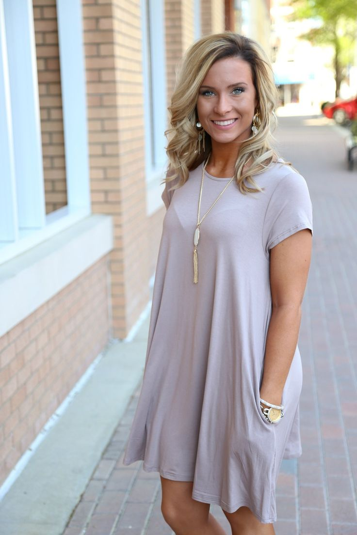 piko swing dress taupe