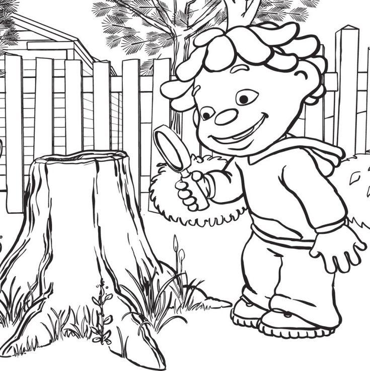 Mejores 7 imágenes de Top Sid the Science Kid Coloring Pages en ...