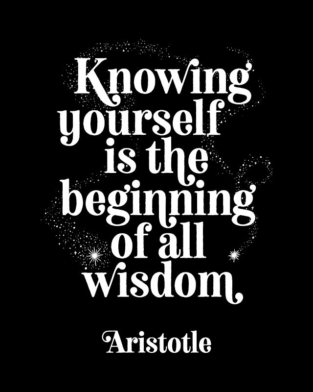 Printable Art Knowing Yourself Is The Beginning Of All Etsy Typography Quotes Motivational Prints Printable Quotes