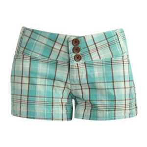 Three Button Plaid Short - Teen Clothing by Wet Seal - Polyvore
