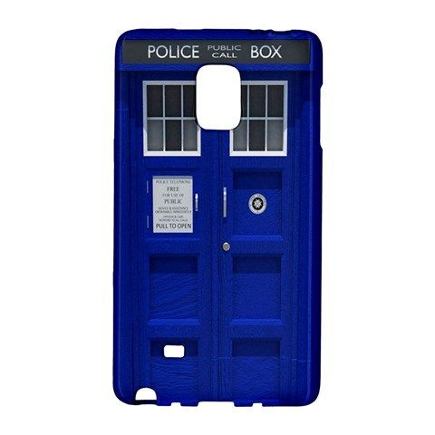 Tardis Dr Doctor Who Police Box Samsung Galaxy Note EDGE Case Wrap Around