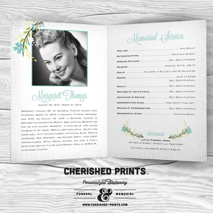130 best Memorial \ Album Templates images on Pinterest - celebration of life templates