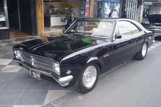 ◆ Visit MACHINE Shop Café... ◆ ~ Aussie Custom Cars & Bikes ~ Tuff as hell black HK GTS Monaro
