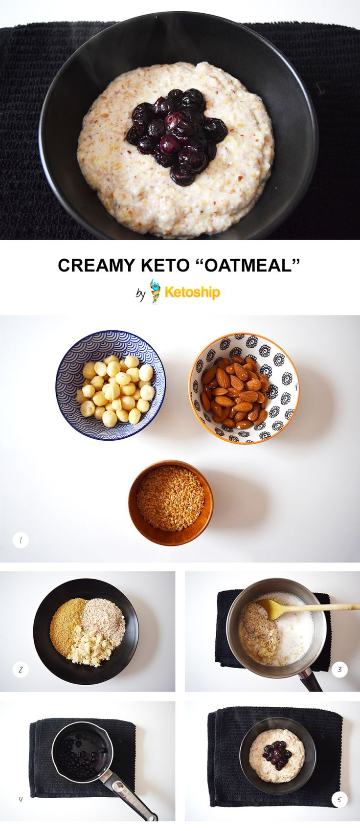 Creamy Keto Oatmeal recipe | Ketoship | Delicious Recipes | Pinterest | Oatmeal recipes, Keto ...