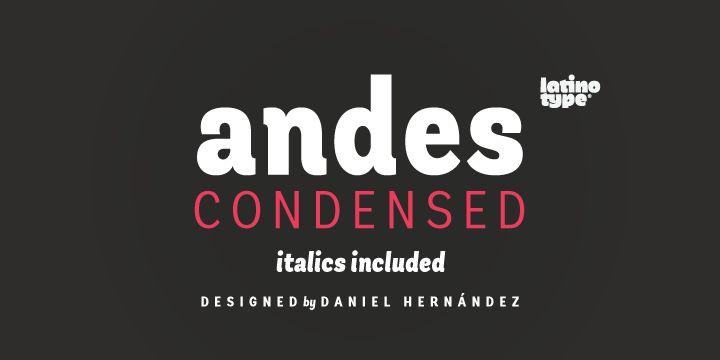 Andes Condensed - Webfont & Desktop font « MyFonts