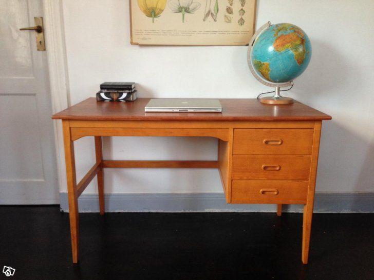 Snyggt skrivbord i teak. Retro 50-, 60-tal | Stockholm