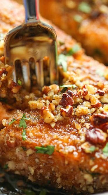 Pecan Crusted Salmon with Lemon Glaze
