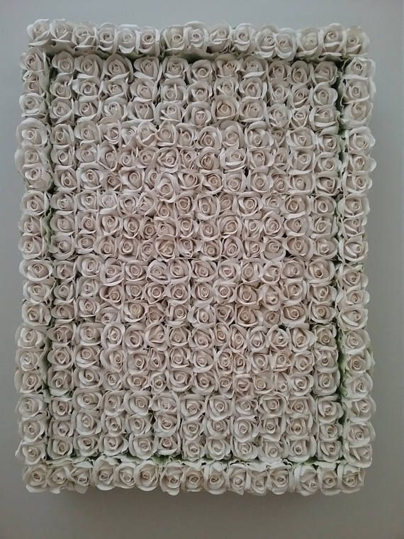 Hand Made white paper Rose Wall Hanging 46cm wide x 64cm high Brand new, hand made  Postage available please pm me your postcode and town, shipping price is estimate only,myou must contact Me forvactual shipping cost  Pick up available from grantville or Cheltenham Only 1 available Payment by PayPal  Advertised elsewhere
