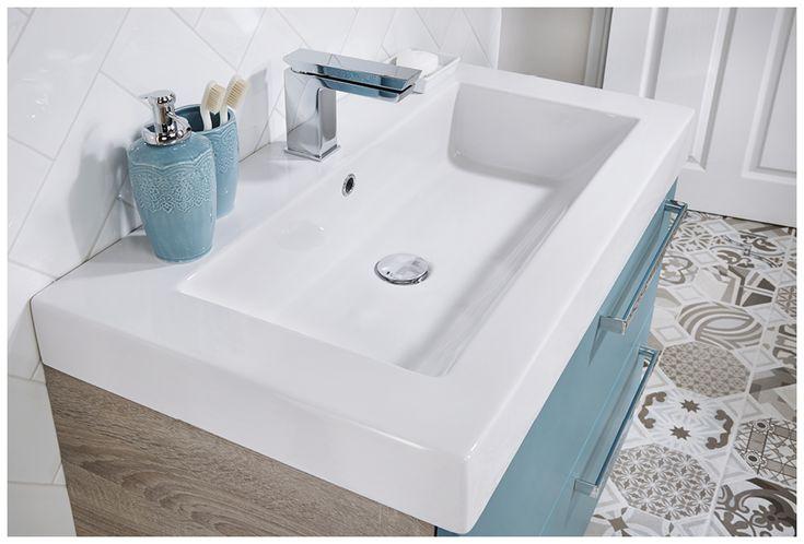 Blue bathroom en suite bathroom furniture from Utopia Bathrooms.