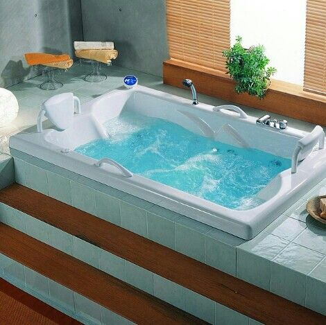 banheira dupla tamanho pequeno with jacuzzi para bao