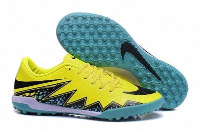 super popular 193ee 7e46a Genuine Nike Hypervenom Phantom Premium TF Word Cup Yellow Black Blue Green  SIZE 39-45