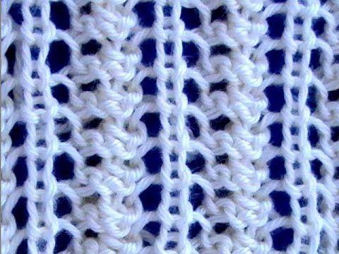 Cómo Tejer Punto Calado Fantasia - Lace Stitch 2 Agujas (381)