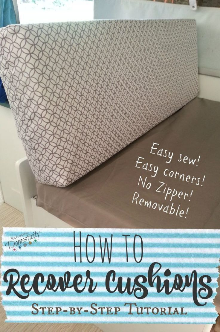 How to Recover Cushions – Easy sew, easy corners, no zipper, removable for washi…