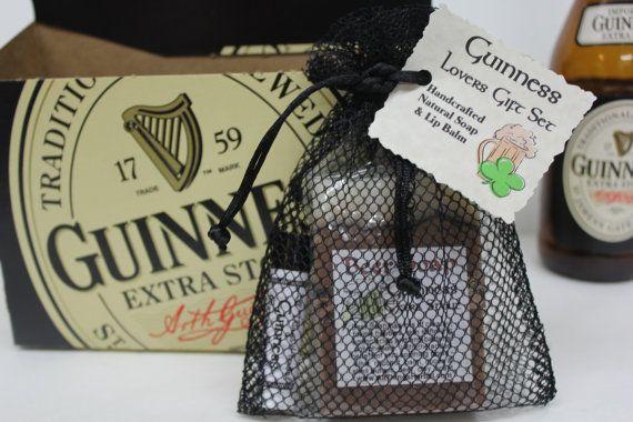 Guinness Gift Set Beer Soap & Lip Balm by AllThingsHerbal