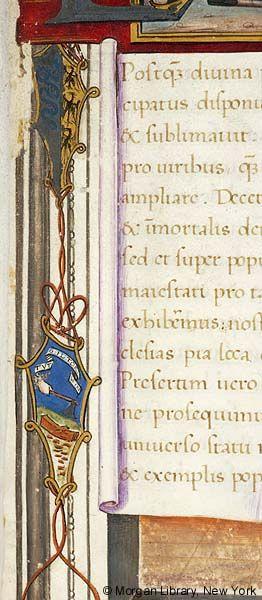 Litterae ducales donationis ad monasterium Sanctae Mariae Gratiarum, MS M.434 fol. 1r - Images from Medieval and Renaissance Manuscripts - The Morgan Library & Museum