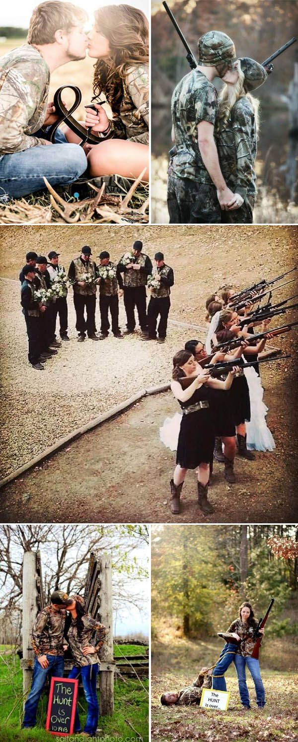 Awesome Camo Wedding Photo Ideas For Country Couples Who Love To Hunt