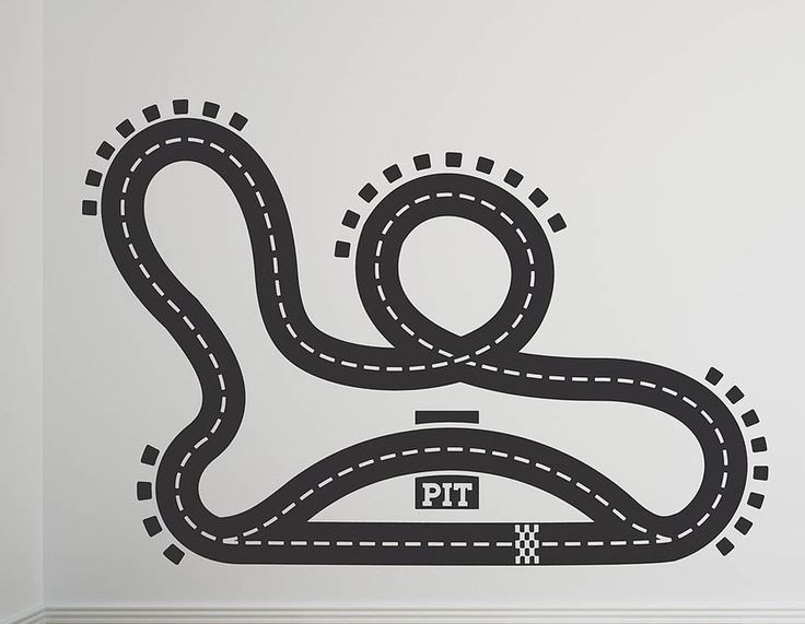 racetrack vinyl floor sticker contemporary wall stickers race car decal sports murals track