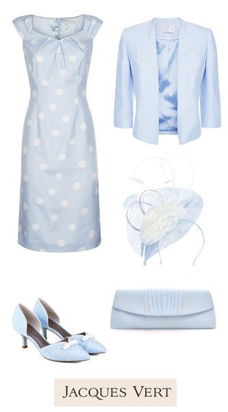 Matching Occasion Outfits  for Weddings, Race Days and other Special Occasions | Jacques Vert | Polka dot pastel blue