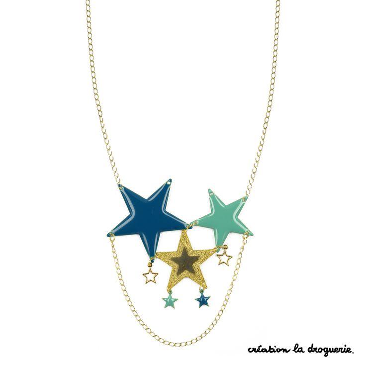 """Des étoiles plein les yeux... Découvrez le nouveau it bijou, les colliers """"Cosmique"""". #ladroguerie #bijou"""